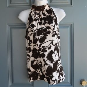 Black/White Floral Print Top by Michael Kors Sz. S